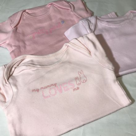All the Pinks Bodysuits 0-3 Months